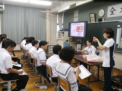 看護の出前授業