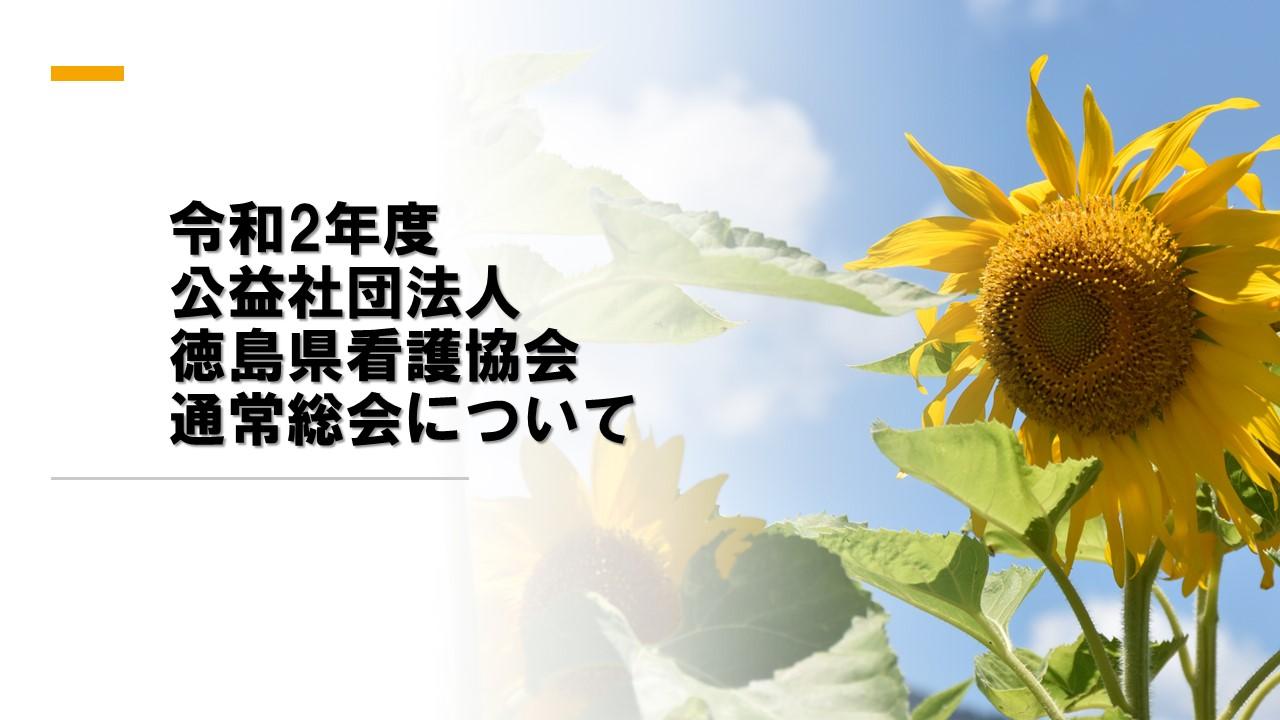 令和2年度公益社団法人徳島県看護協会通常総会について